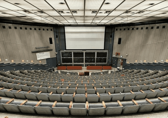 Large lecture hall at Cal